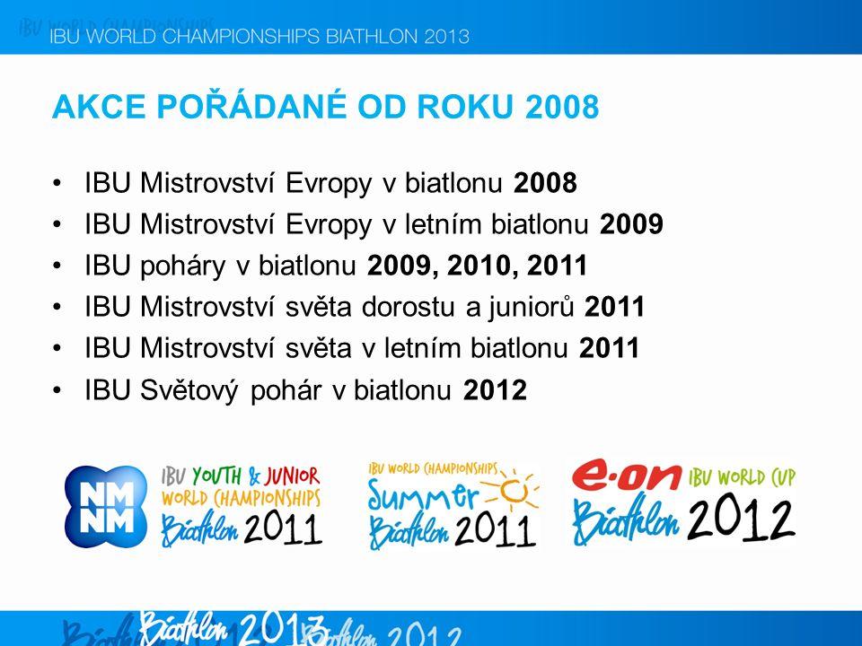 AKCE POŘÁDANÉ OD ROKU 2008 IBU Mistrovství Evropy v biatlonu 2008 IBU Mistrovství Evropy v letním biatlonu 2009 IBU poháry v biatlonu 2009, 2010, 2011