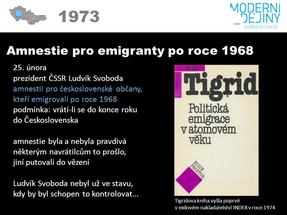1973 Amnestie pro emigranty po roce 1968 25.