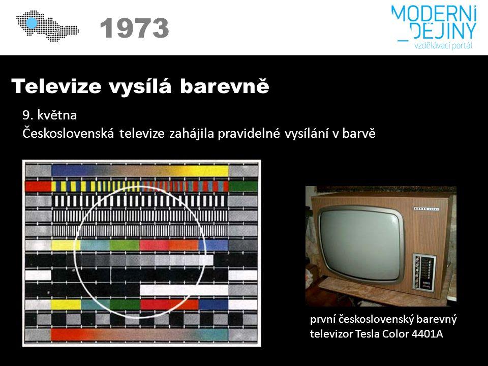 1973 Televize vysílá barevně 9.