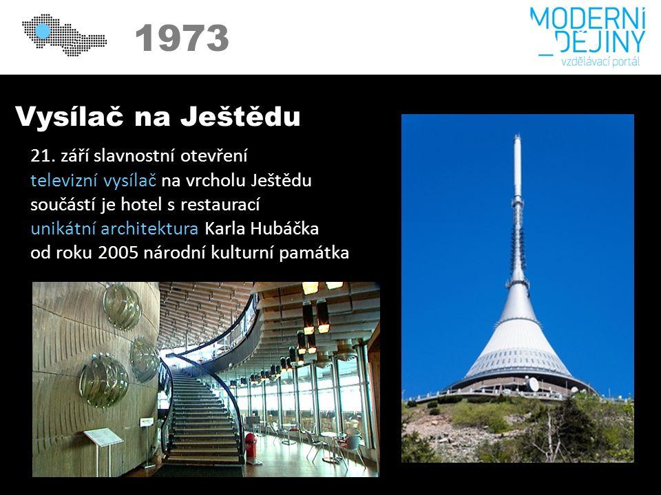 1973 Vysílač na Ještědu 21.