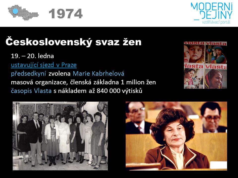 Československý svaz žen 19. – 20.