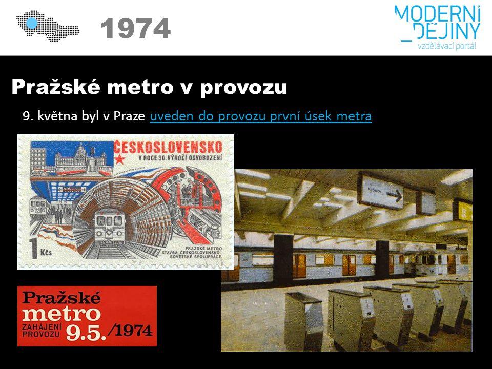 Pražské metro v provozu 9.