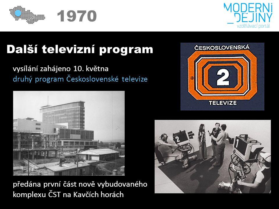 1970 Další televizní program vysílání zahájeno 10.