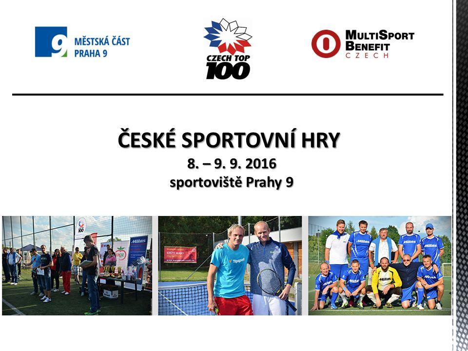 Organizátoři Českých sportovních her 2016 Společnost MultiSport Benefit MultiSport je motivační program pro zaměstnance, který umožňuje každodenní použití ve více než 1100 sportovních zařízeních po celé ČR a SR.
