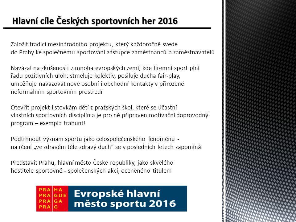 Harmonogram Českých sportovních her Harmonogram Českých sportovních her 8.