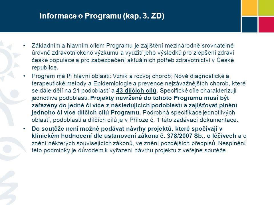 Informace o Programu (kap. 3.
