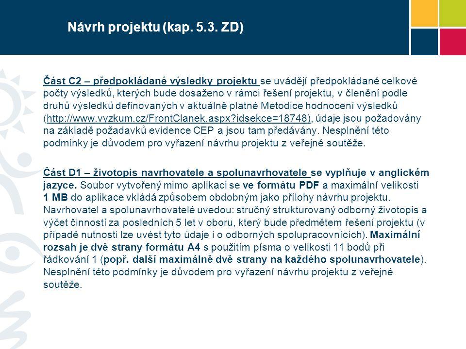 Návrh projektu (kap. 5.3.