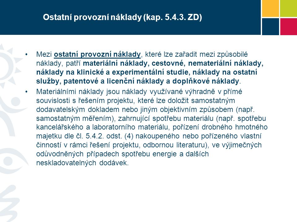 Ostatní provozní náklady (kap.5.4.3.