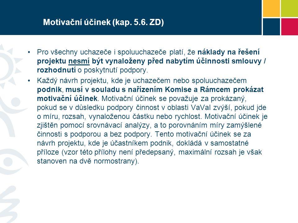Motivační účinek (kap. 5.6.