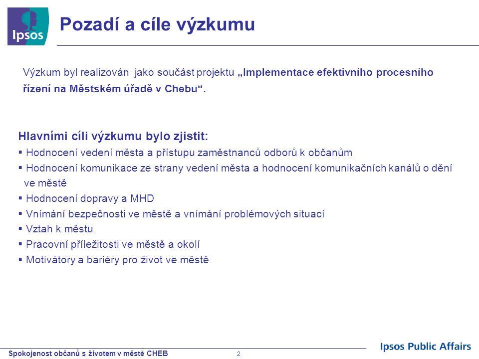 Spokojenost občanů s životem v městě CHEB 33 Míra využívání MHD Více než polovina obyvatel města nevyužívá MHD.