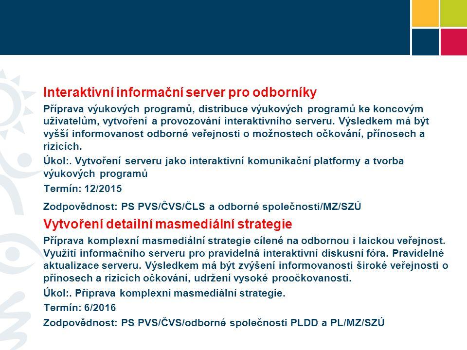 Interaktivní informační server pro odborníky Příprava výukových programů, distribuce výukových programů ke koncovým uživatelům, vytvoření a provozování interaktivního serveru.