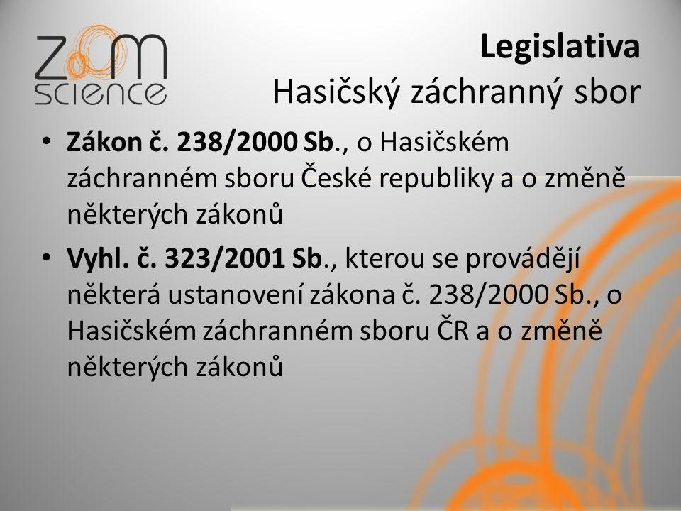 Legislativa Hasičský záchranný sbor Zákon č.
