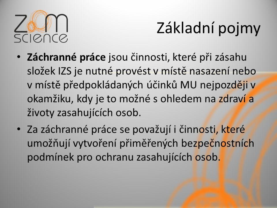 Integrovaný záchranný systém Nařízení vlády č.