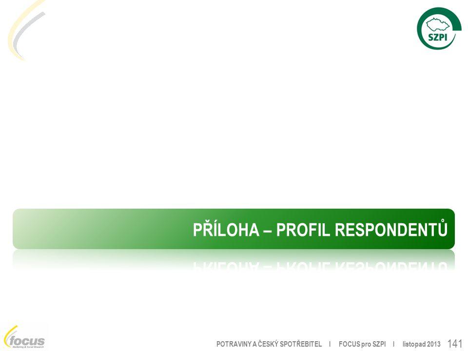 POTRAVINY A ČESKÝ SPOTŘEBITEL l FOCUS pro SZPI l listopad 2013 141