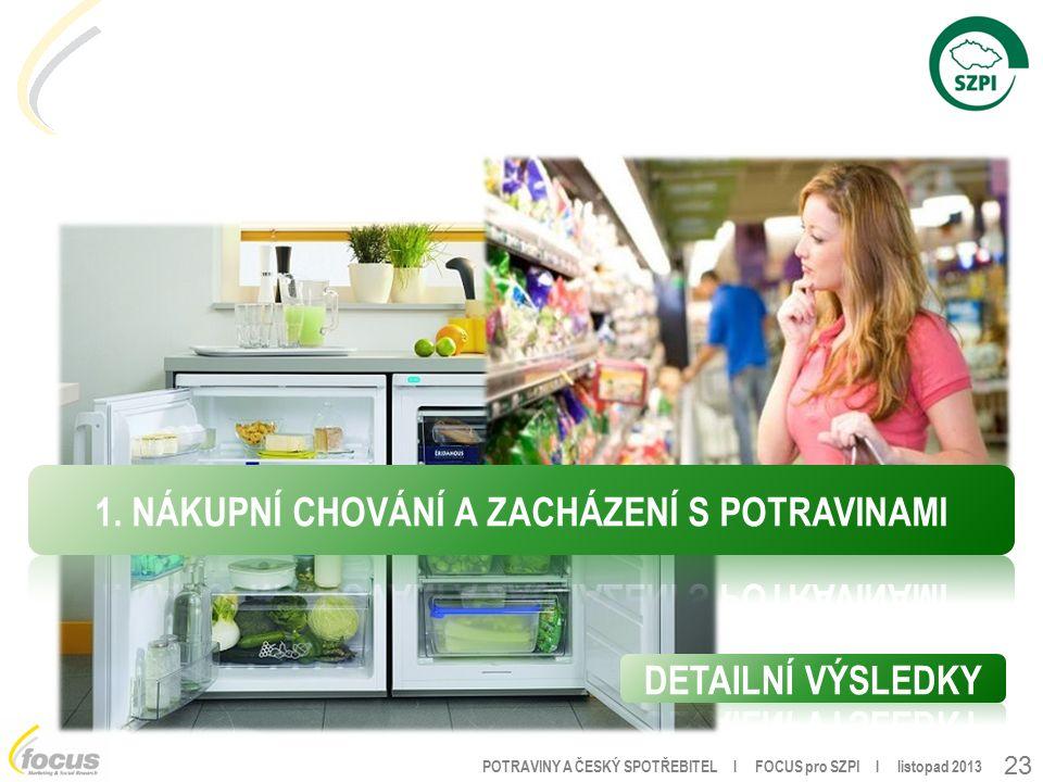 POTRAVINY A ČESKÝ SPOTŘEBITEL l FOCUS pro SZPI l listopad 2013 23