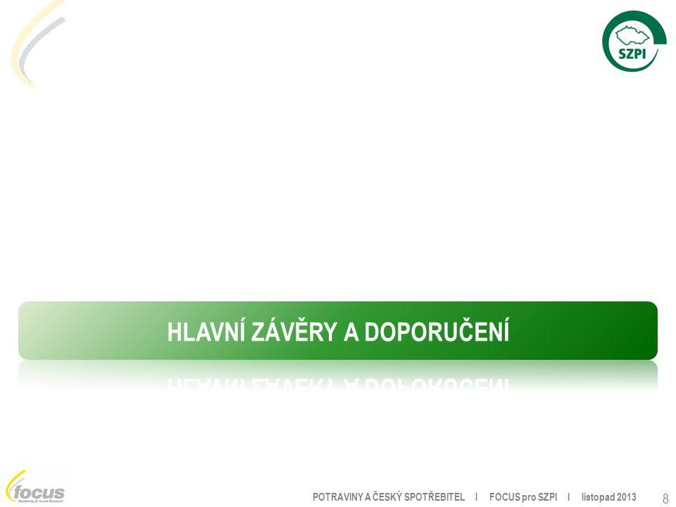 POTRAVINY A ČESKÝ SPOTŘEBITEL l FOCUS pro SZPI l listopad 2013 8