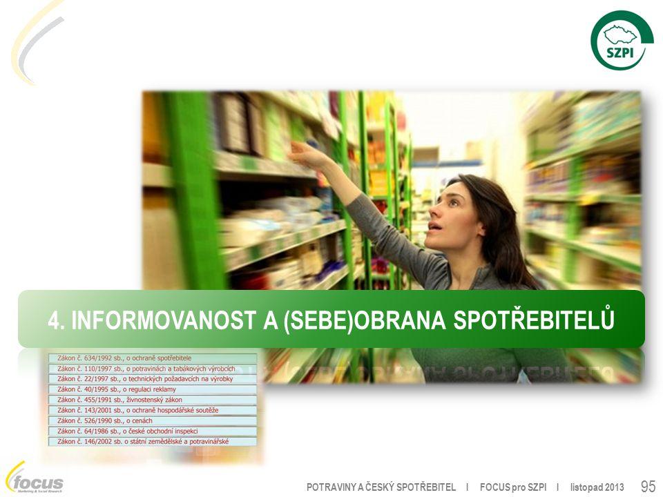 POTRAVINY A ČESKÝ SPOTŘEBITEL l FOCUS pro SZPI l listopad 2013 95