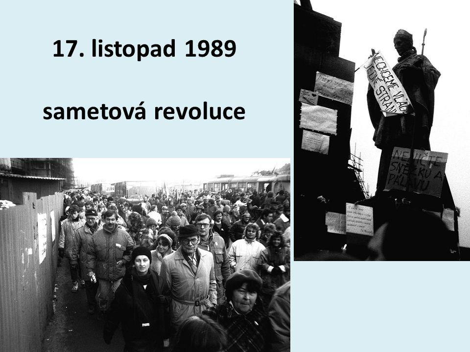 17. listopad 1989 sametová revoluce