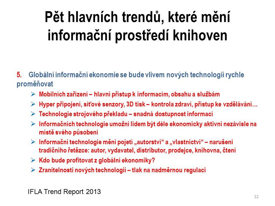Pět hlavních trendů, které mění informační prostředí knihoven 5.