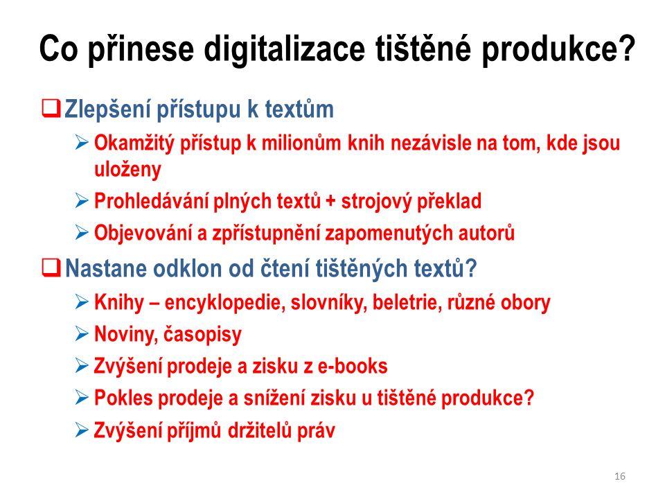 Co přinese digitalizace tištěné produkce.