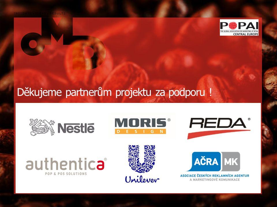 134 INSIGHTS IDEAS RESULTS Děkujeme partnerům projektu za podporu !