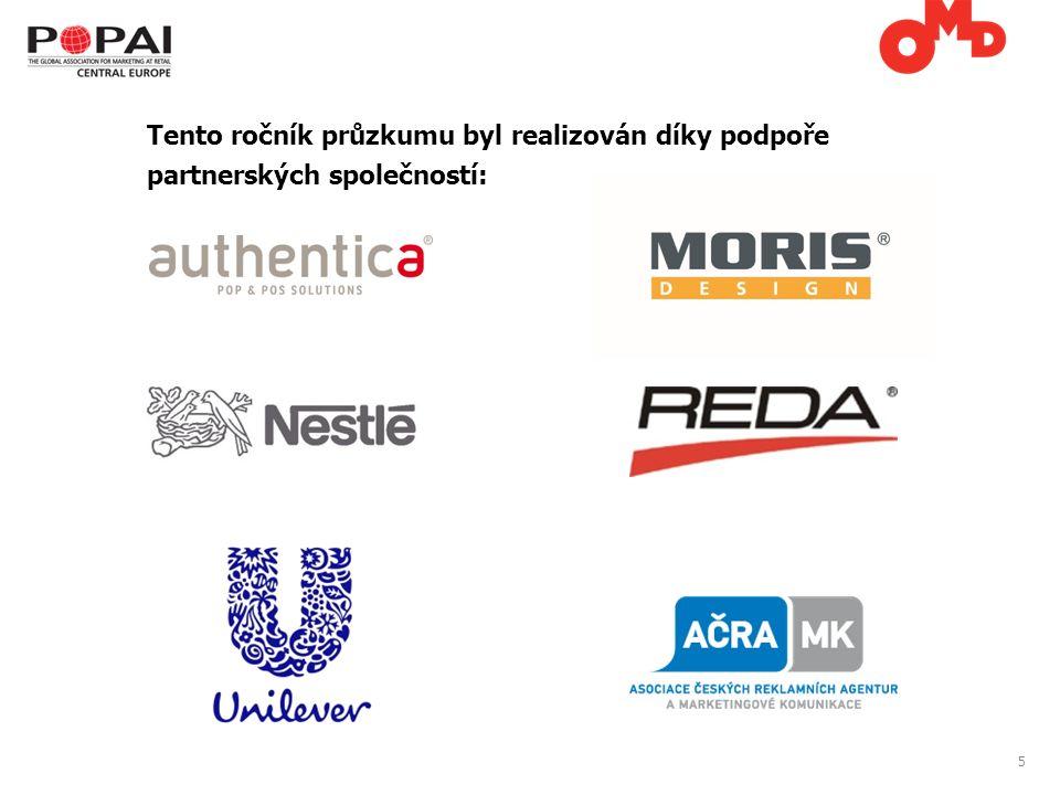5 Tento ročník průzkumu byl realizován díky podpoře partnerských společností: