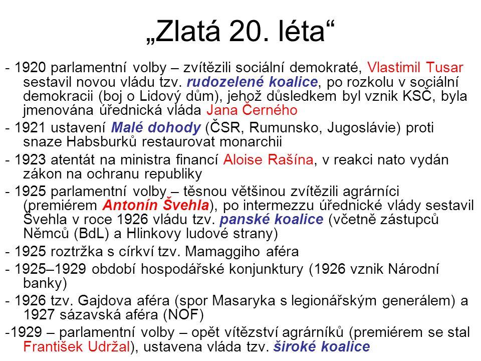 """""""Zlatá 20."""