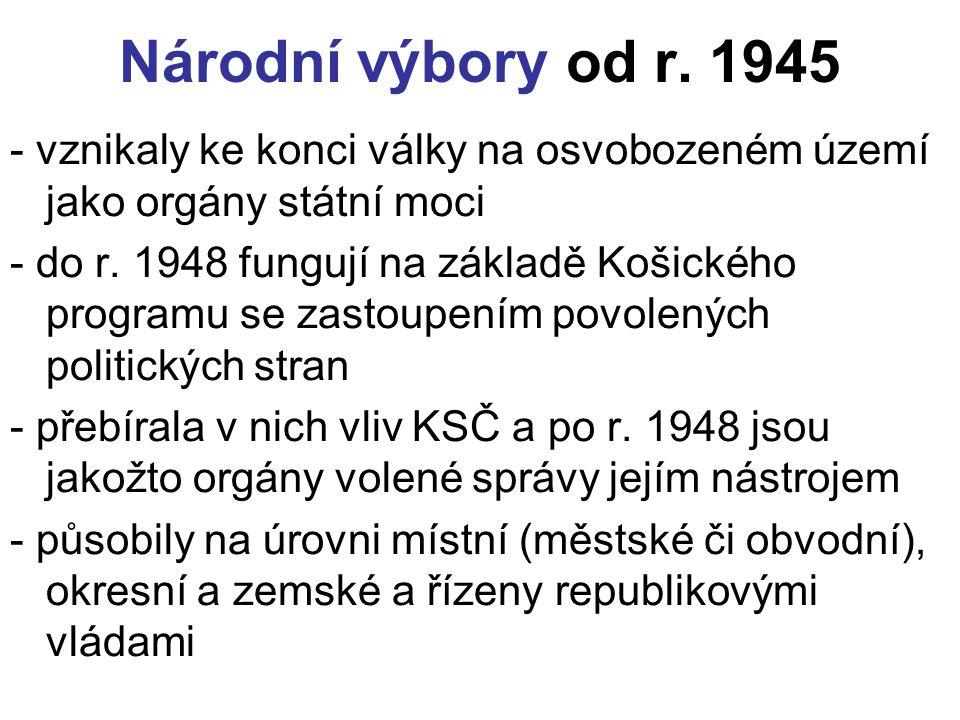 Národní výbory od r.