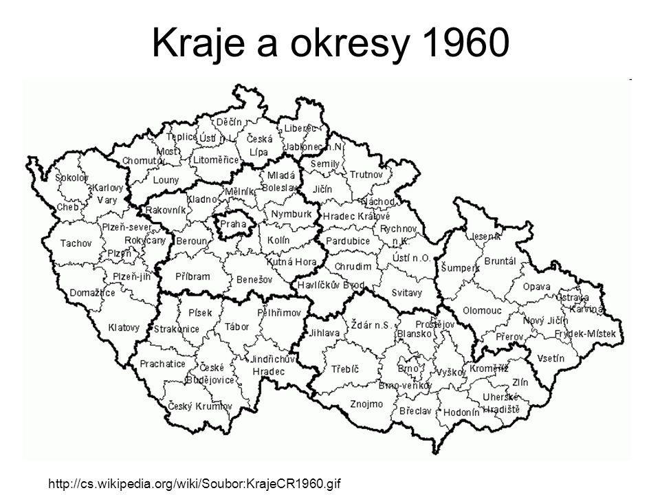http://cs.wikipedia.org/wiki/Soubor:KrajeCR1960.gif Kraje a okresy 1960