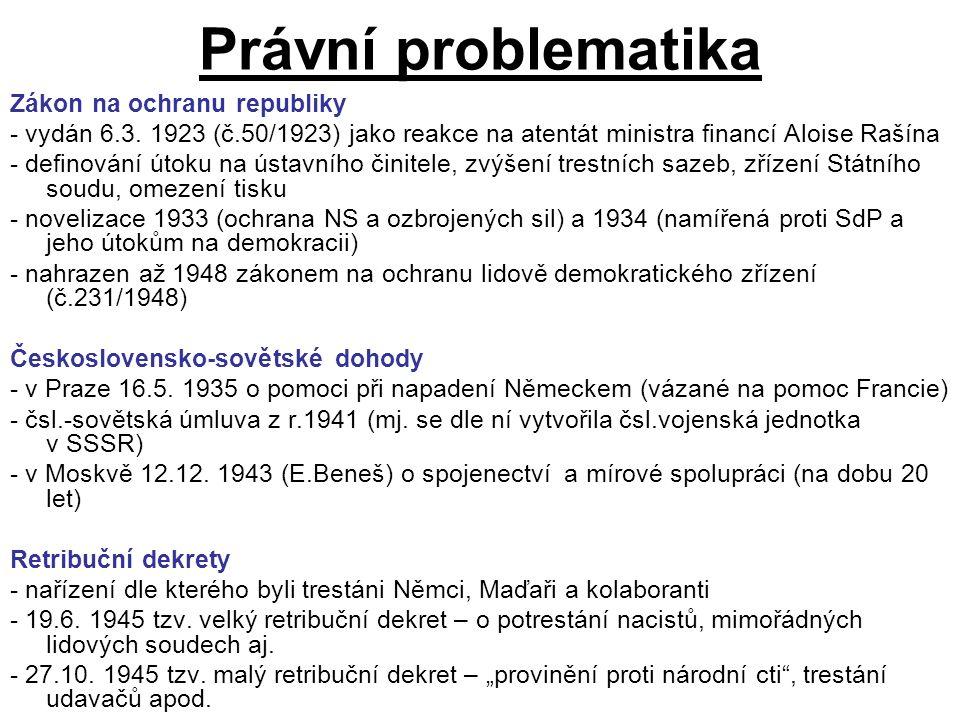 Právní problematika Zákon na ochranu republiky - vydán 6.3.