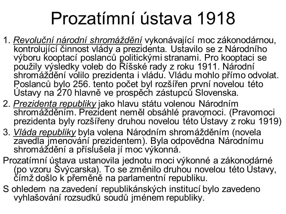 Prozatímní ústava 1918 1.
