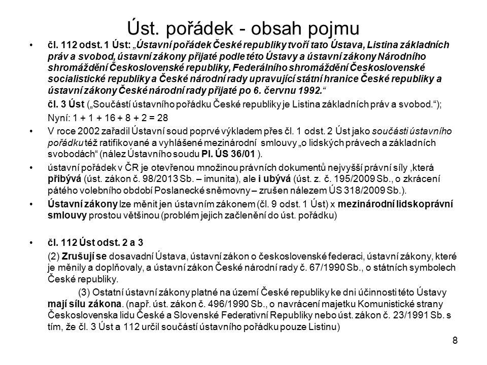 Úst.pořádek - obsah pojmu čl. 112 odst.