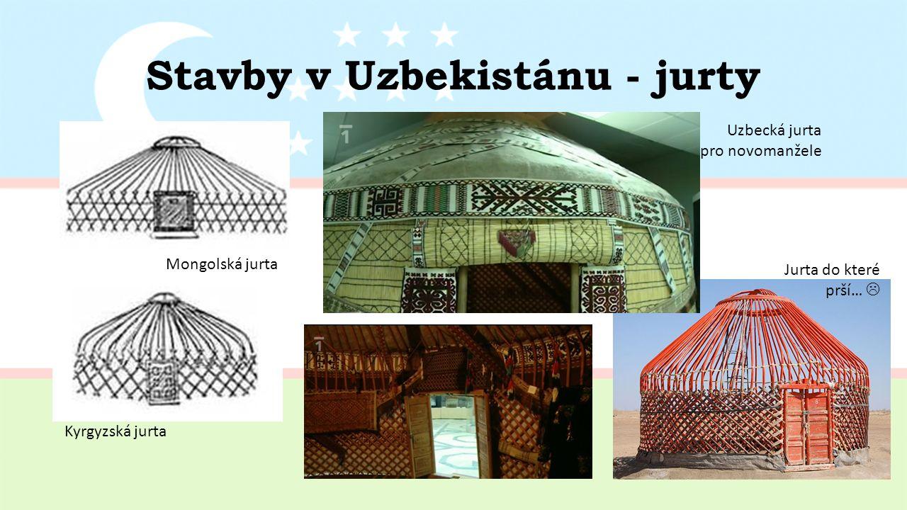 Stavby v Uzbekistánu - jurty Mongolská jurta Kyrgyzská jurta Uzbecká jurta pro novomanžele Jurta do které prší… 