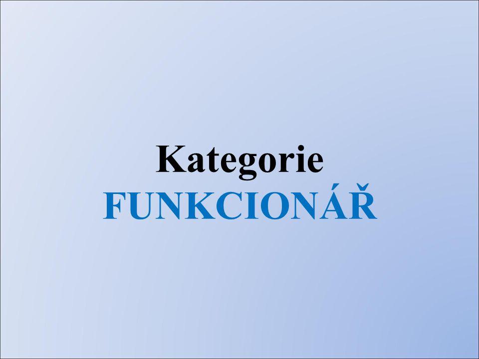 Kategorie FUNKCIONÁŘ