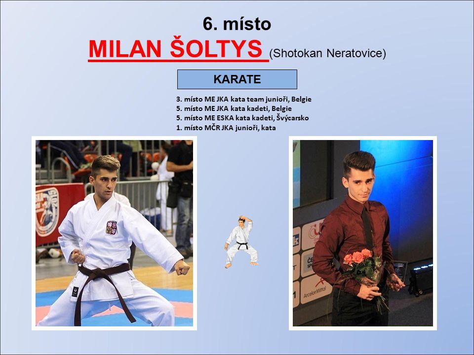 6. místo MILAN ŠOLTYS (Shotokan Neratovice) 3. místo ME JKA kata team junioři, Belgie 5.