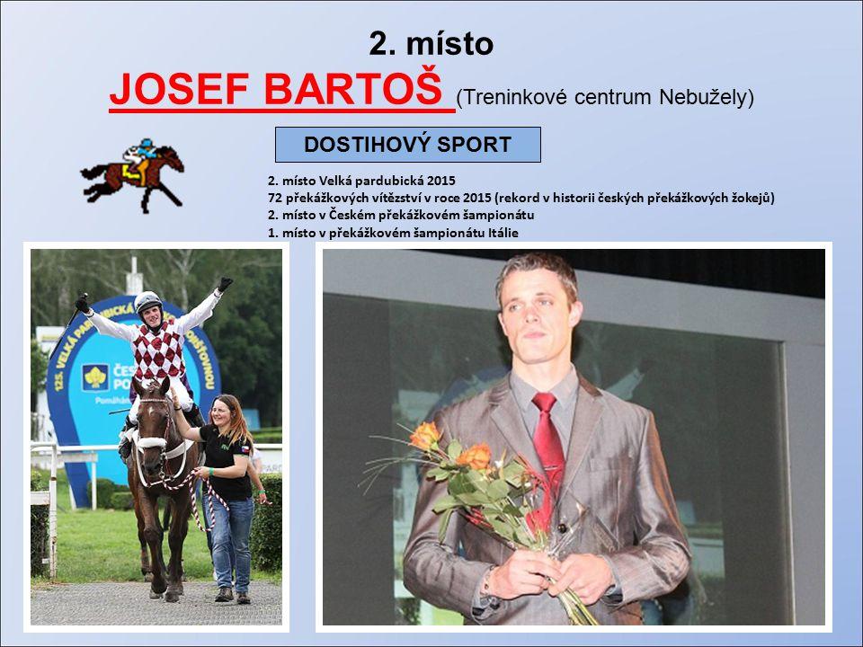 2. místo JOSEF BARTOŠ (Treninkové centrum Nebužely) 2.