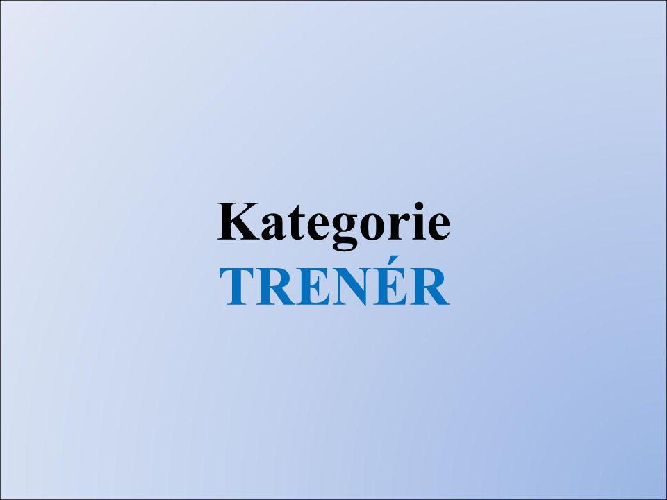 Kategorie TRENÉR