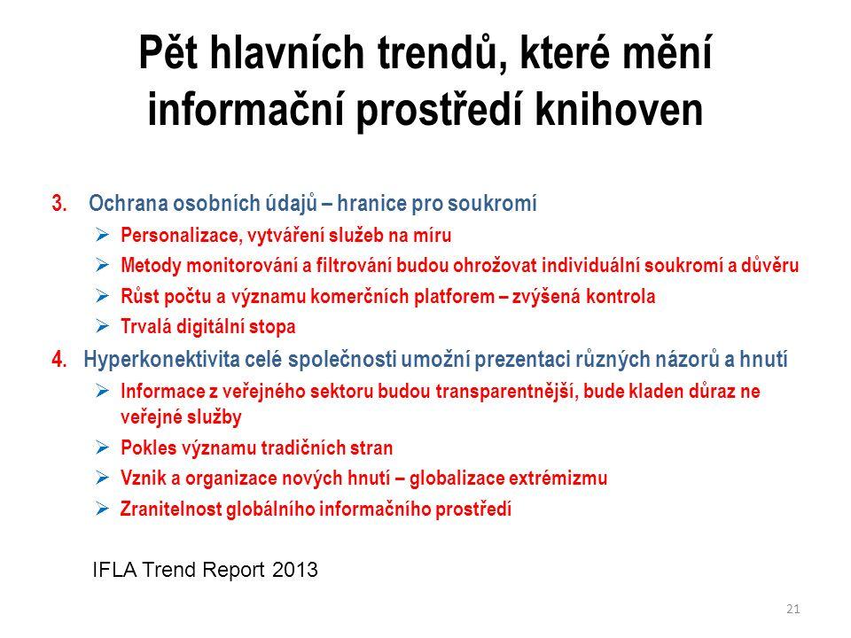 Pět hlavních trendů, které mění informační prostředí knihoven 3.