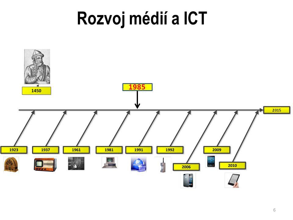 Rozvoj médií a ICT 6 1985