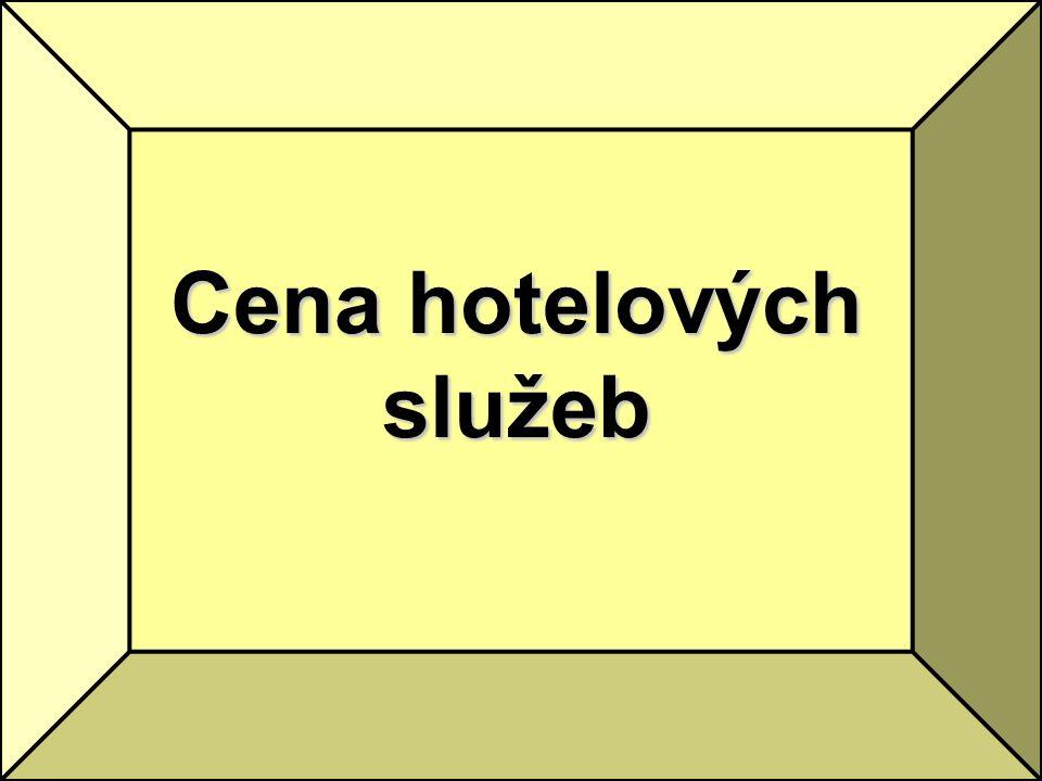 Cena hotelových služeb