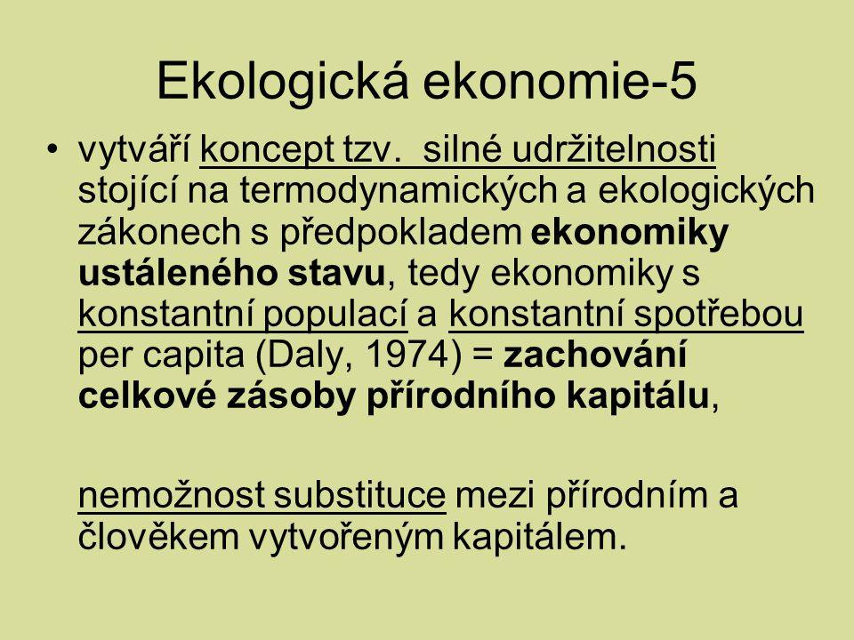 Ekologická ekonomie-5 vytváří koncept tzv.
