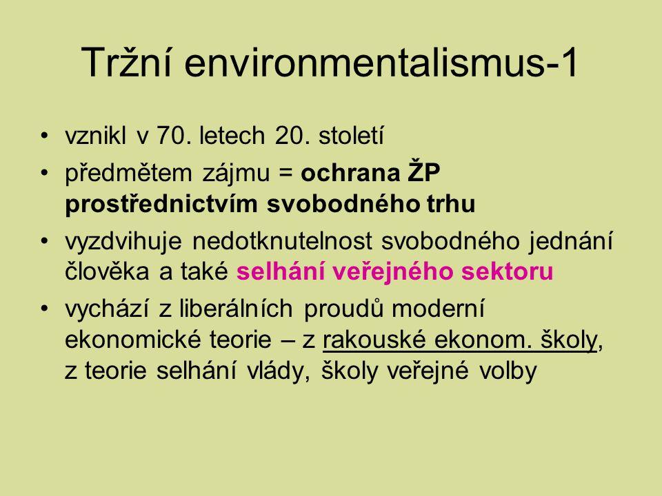Tržní environmentalismus-1 vznikl v 70. letech 20.