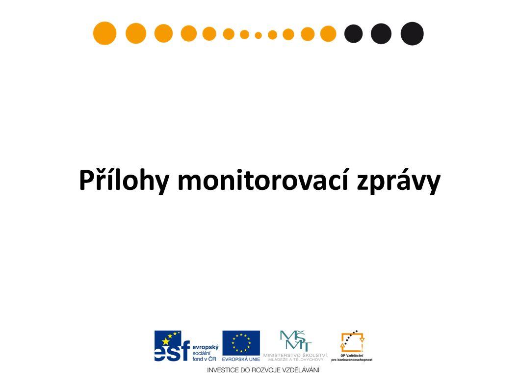 Přílohy monitorovací zprávy
