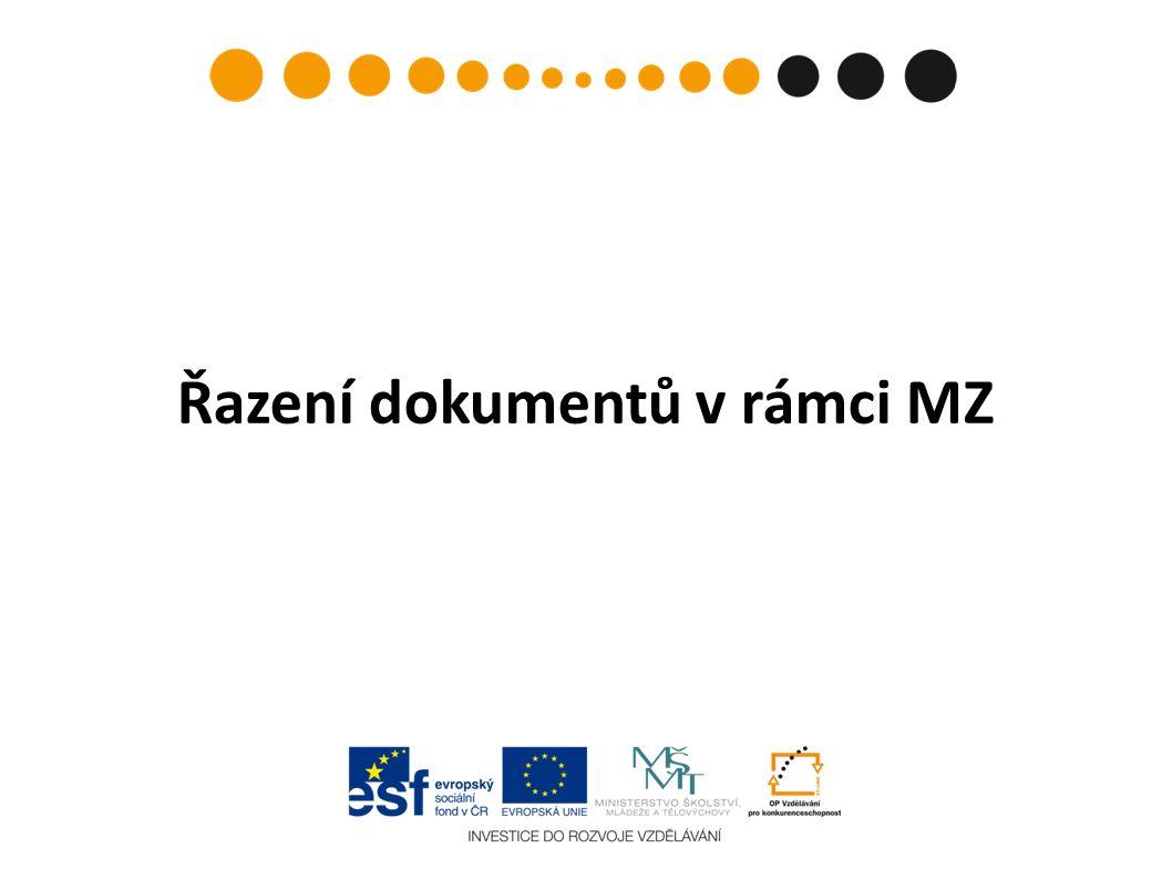 Řazení dokumentů v rámci MZ