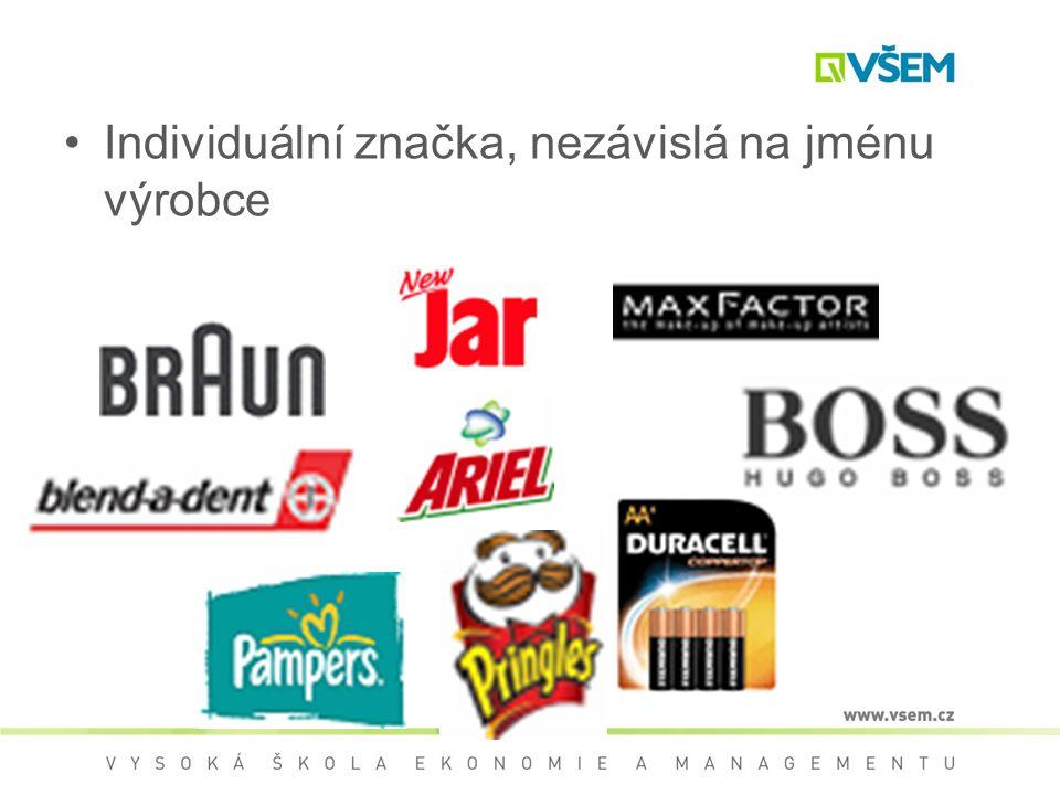 Individuální značka, nezávislá na jménu výrobce