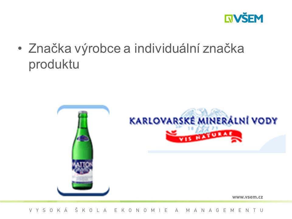 Značka výrobce a individuální značka produktu