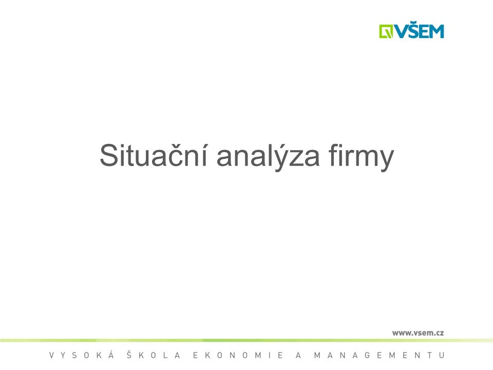 Situační analýza firmy