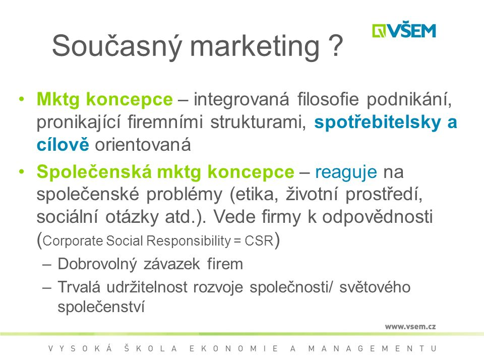 Současný marketing .