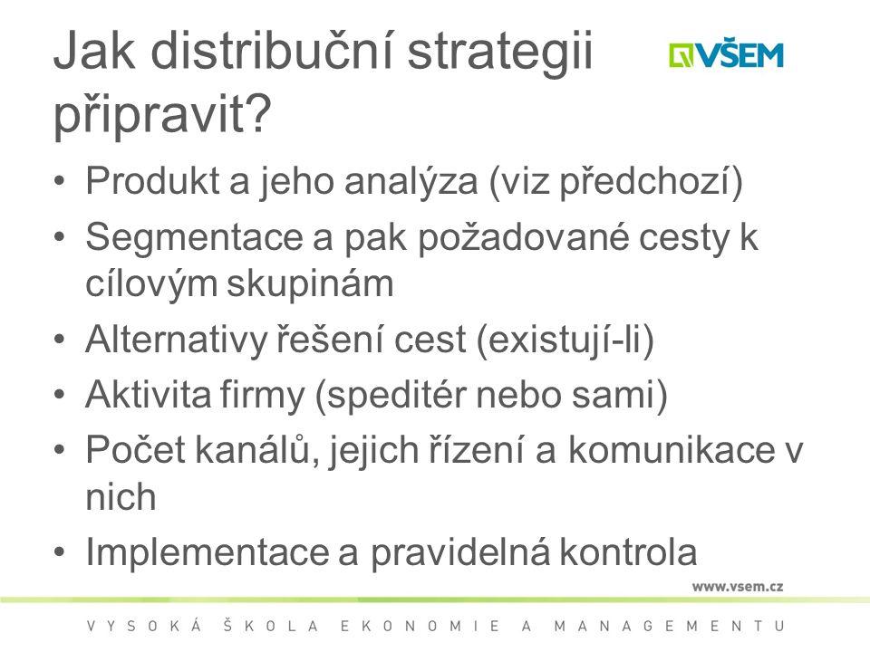 Jak distribuční strategii připravit.