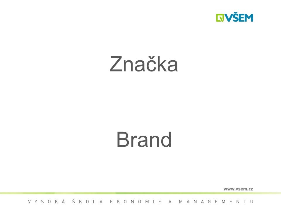 Značka Brand